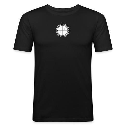 logowhite - Männer Slim Fit T-Shirt