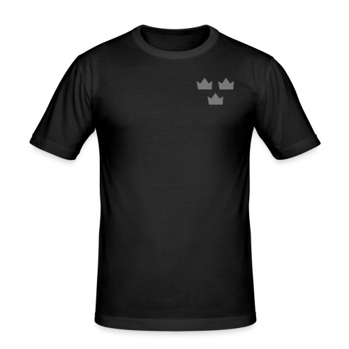 Tre kronor sRGB templet - Slim Fit T-shirt herr