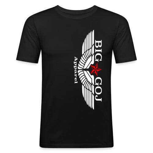 Big Goj Apparel Banner White text png - Men's Slim Fit T-Shirt