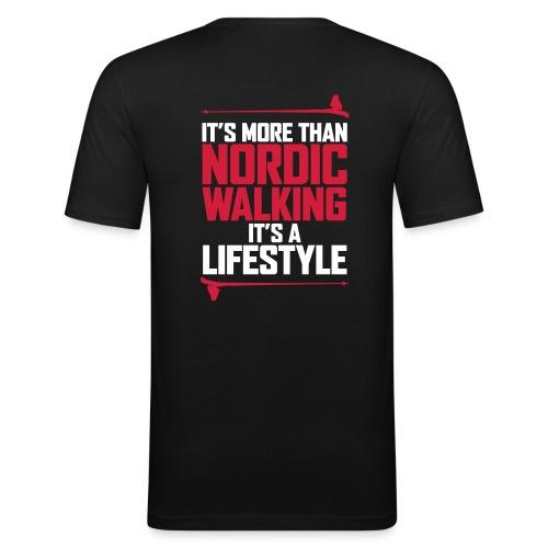 It's more than Nordic Walking - Miesten tyköistuva t-paita