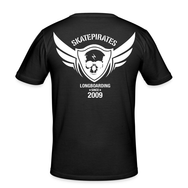 SKATEPIRATES Logo used white black