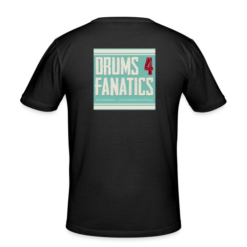 Drums for fanatics 4kant jpg - Mannen slim fit T-shirt
