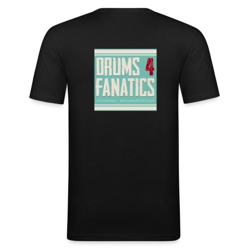Drums for fanatics 4kant jpg - slim fit T-shirt