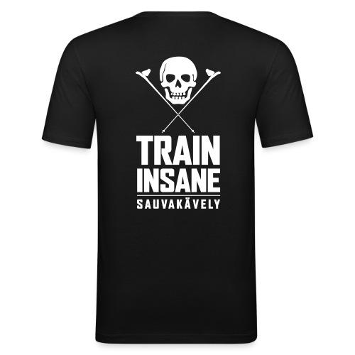 Sauvakävely - Skull t-shirt - Miesten tyköistuva t-paita