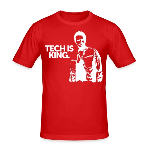 Tech Is King - Men's Slim Fit T-Shirt