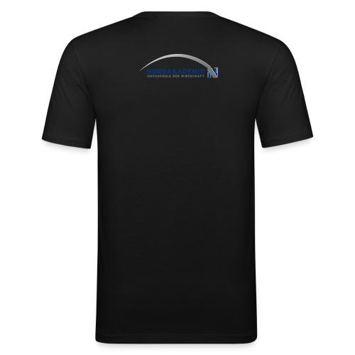 NAK Logo transparent - Männer Slim Fit T-Shirt