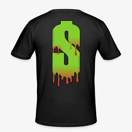 blood money - Mannen slim fit T-shirt