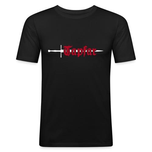 Tapfar Rückseite Biolinum - Männer Slim Fit T-Shirt