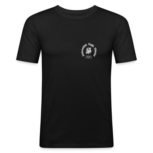 stustarugbylogo weiss - Männer Slim Fit T-Shirt