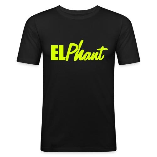 Elephant Head - Männer Slim Fit T-Shirt
