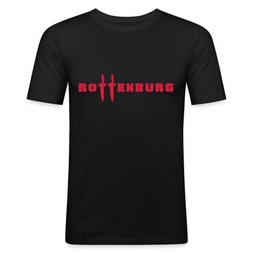 Schriftzug Rottenburg - Männer Slim Fit T-Shirt