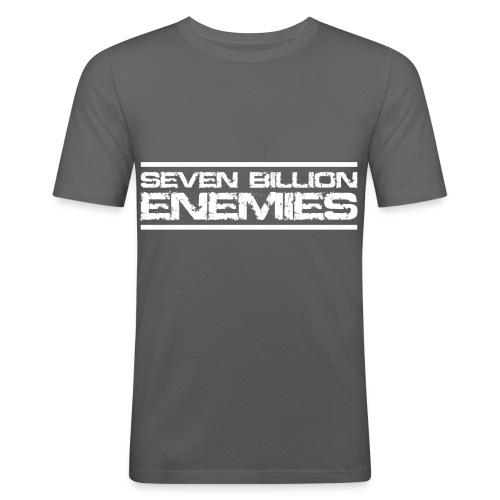 Seven Billion Enemies - BLANC - T-shirt près du corps Homme