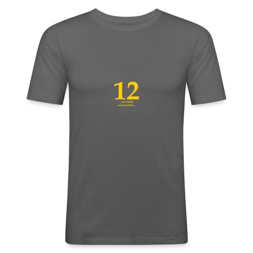 12gelb - Männer Slim Fit T-Shirt