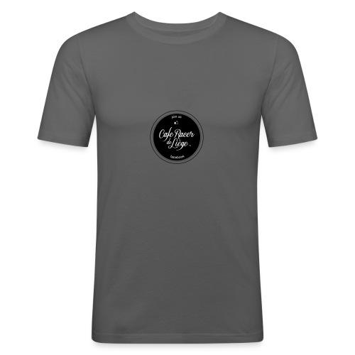 Logo Cafe racer de Liège FB - T-shirt près du corps Homme