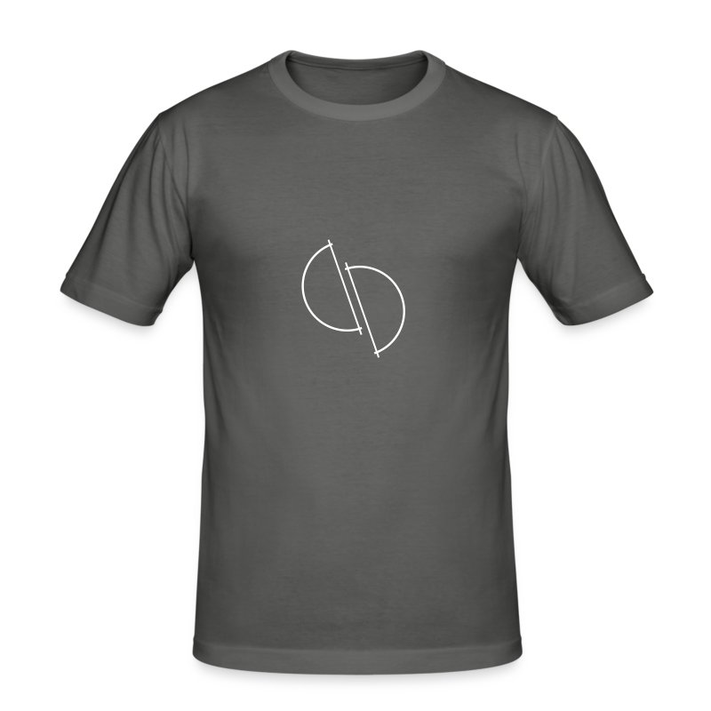 ediplace logo line art - Slim Fit T-shirt herr
