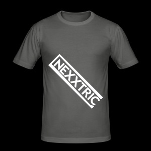 logo blanc NEXXTRIC - Tee shirt près du corps Homme