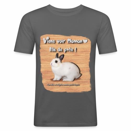 Viens voir Maman fils de p*te ! - T-shirt près du corps Homme