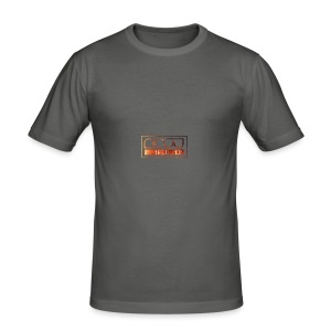 Cap logo Orange - Men's Slim Fit T-Shirt
