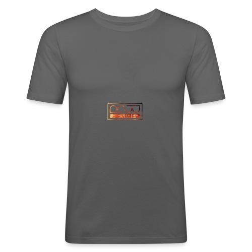 Cap logo Orange - Men's Slim Fit T-Shirt