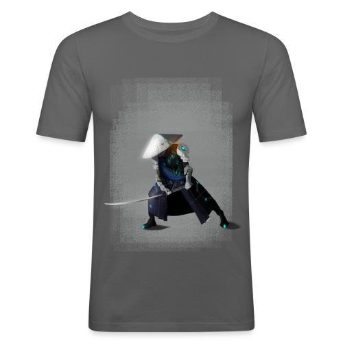 Futuristico Samurai - Maglietta aderente da uomo