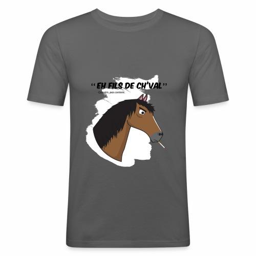 EH FILS DE CH'VAL Blanc - T-shirt près du corps Homme