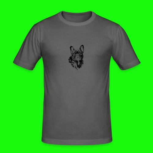 Small_Dog-_-_Bryst_- - Herre Slim Fit T-Shirt