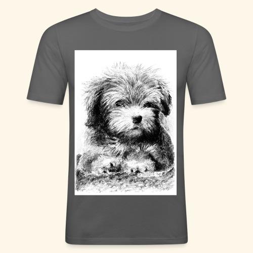Cotton havanna - Miesten tyköistuva t-paita