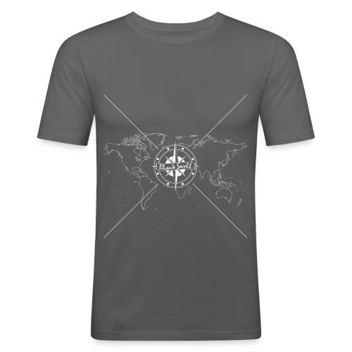 Black Swell Original Weiss - Männer Slim Fit T-Shirt