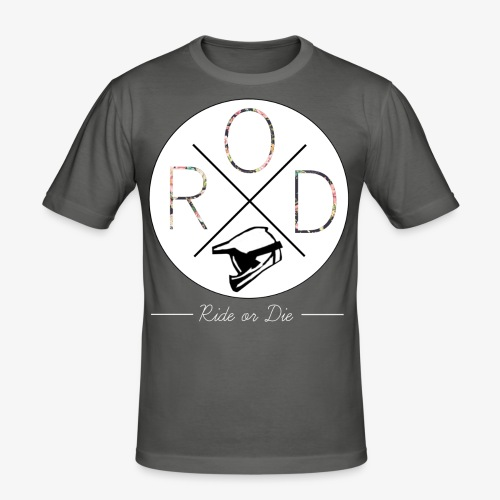 RideorDie Flowers - Männer Slim Fit T-Shirt