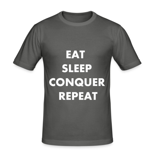EAT SLEEP CONQUER REPEAT - T-shirt près du corps Homme
