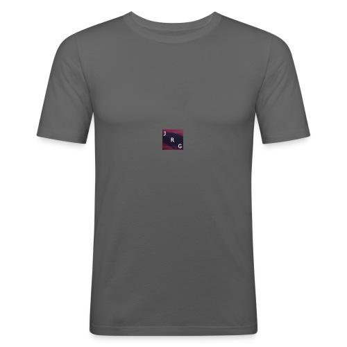 JustRomGames Logo - Männer Slim Fit T-Shirt