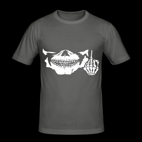 DJ SKULL LOGO - T-shirt près du corps Homme