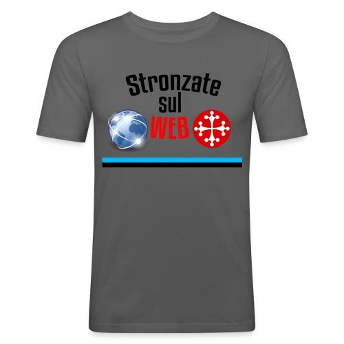 Stronzate sul web (Logo) - Maglietta aderente da uomo