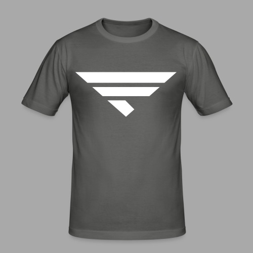 LOGO WHITE - Männer Slim Fit T-Shirt