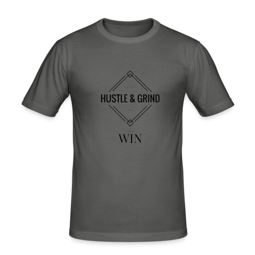 HUSTLE - Men's Slim Fit T-Shirt