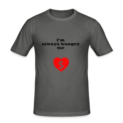 Money or Love - Men's Slim Fit T-Shirt