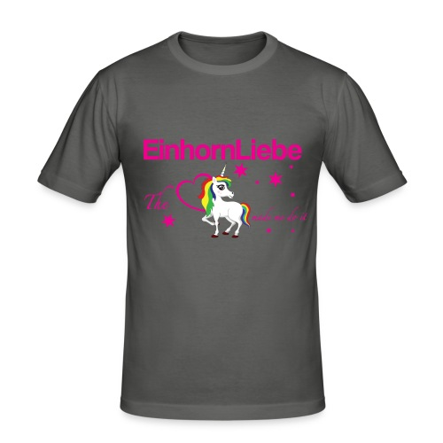 The-Unicorn_made_me_do_it_EInhornLiebe - Männer Slim Fit T-Shirt