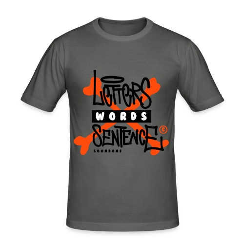 letters words sentence - Obcisła koszulka męska