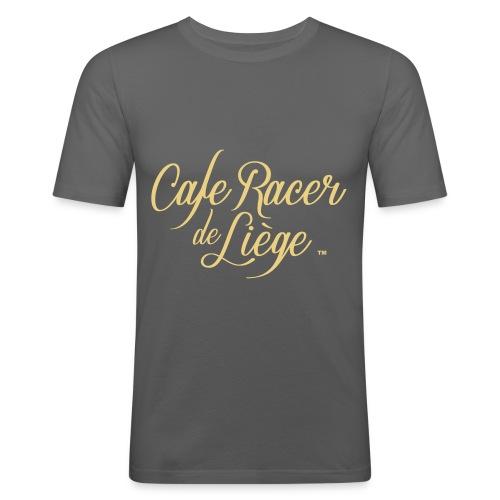 Logo Cafe racer de Liège - T-shirt près du corps Homme