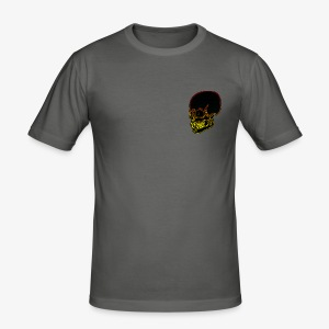 Funky red and yellow neon skull - Men's Slim Fit T-Shirt