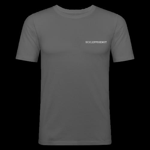 SCHLEPPDIENST - SCHRIFT - Männer Slim Fit T-Shirt