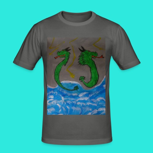 Waterdragons_in_the_thunder- - slim fit T-shirt