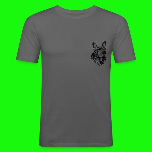 Small_Dog-_-_Bryst_- - Herre Slim Fit T-Shirt