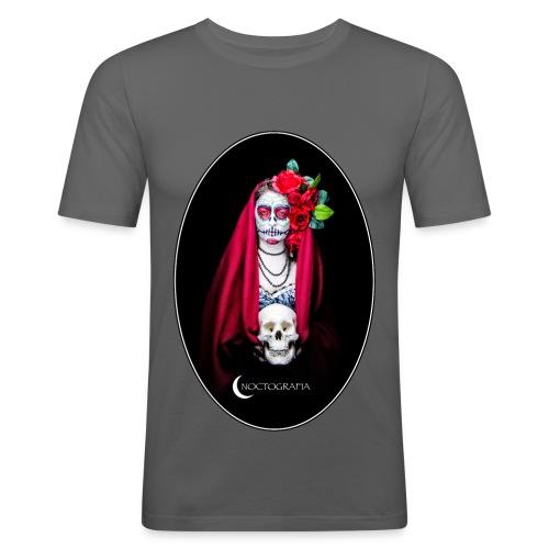Catrina Noctografia Medallón - Camiseta ajustada hombre