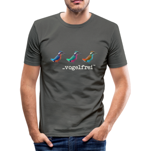 geweihbaer Vogelfrei - Männer Slim Fit T-Shirt