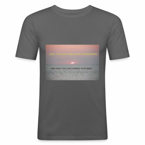 Motivasjon Soloppgang - Slim Fit T-skjorte for menn