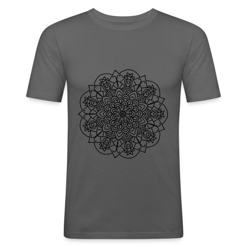 Beetle Mandala - Men's Slim Fit T-Shirt