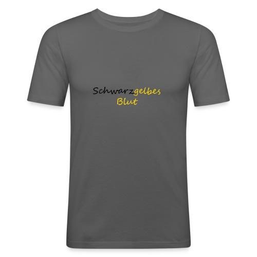 schwarzgelb - Männer Slim Fit T-Shirt