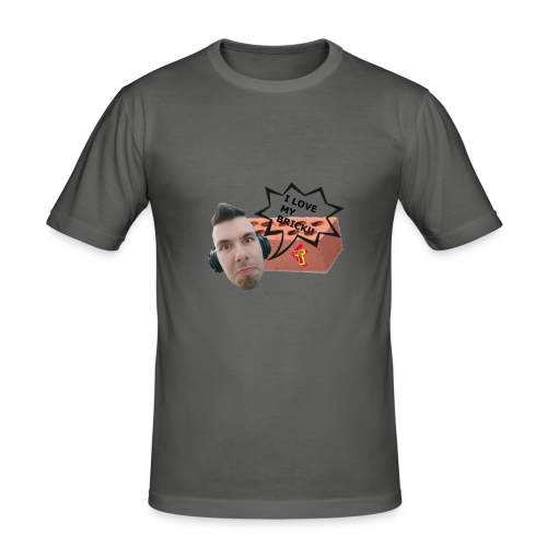 I love my Brick - Teeth 2017 - Men's Slim Fit T-Shirt