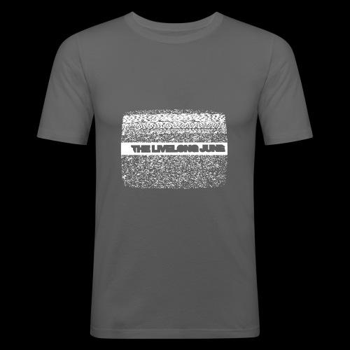 The Livelong June - Logo on white noise - Slim Fit T-shirt herr